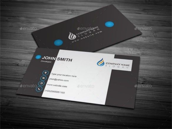50 Elegant Business Card Template Ai Free In 2020 Cool Business