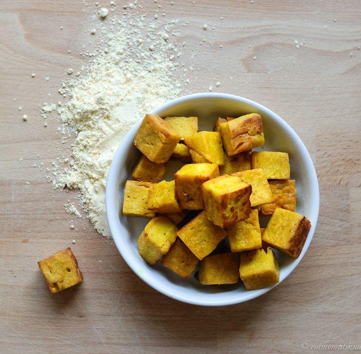 Burmalainen tofu & kikhernekrutongit - Vaimomatskuu