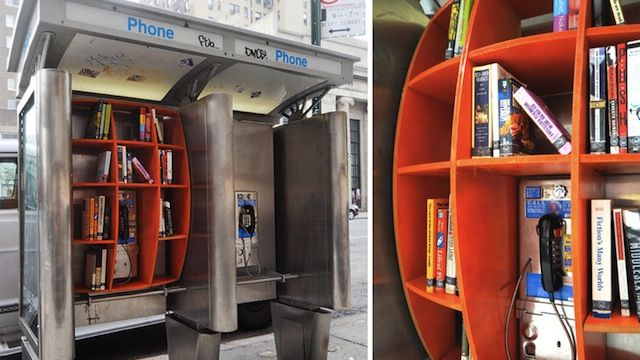 You could use your local phone booth