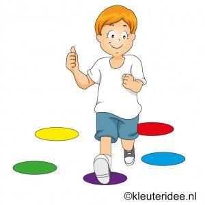 Gymles bij thema kleuren, juf Petra van kleuteridee