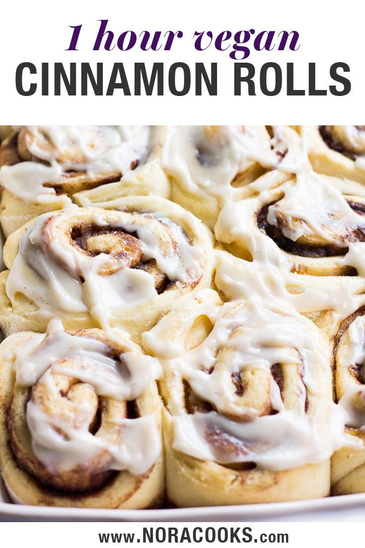 Super Soft And Delicious Vegan Cinnamon Rolls Can Be Made In 1 Hour Loaded With Cinnamon Suga Vegan Cinnamon Rolls Vegan Cream Cheese Vegan Cream Cheese Icing