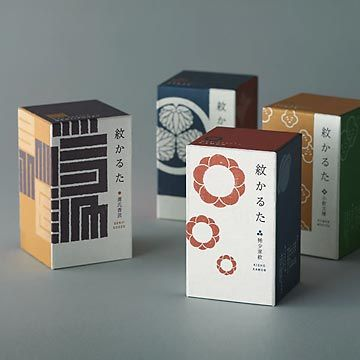 Mon-Karuta: Karuta is a traditional Japanese card game. This cards are used 'mon' (Japanese emblems and traditional pattern) .