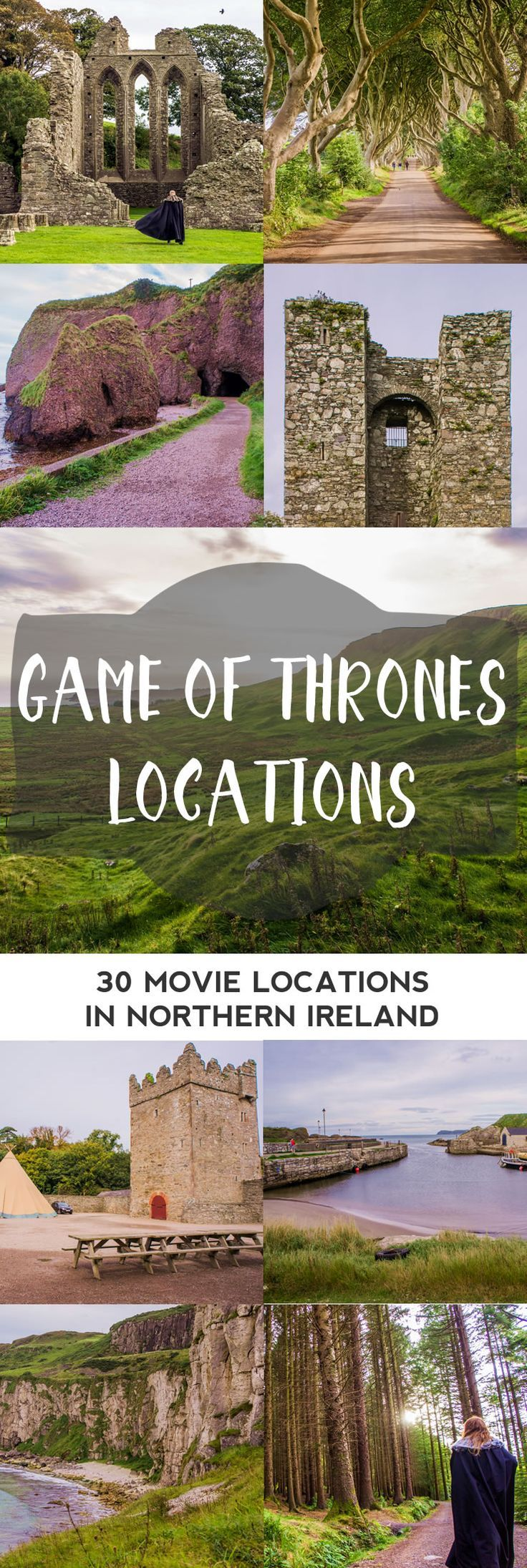 Are you thinking of a road trip along the coast of Northern Ireland? Here are some great stops at all of the Game of Thrones Shooting Locations. A Complete Overview Per Episode + Handy Map! || The Travel Tester