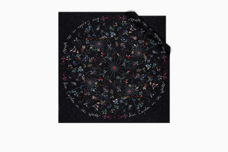 Black silk 90 x 90 cm - Dior