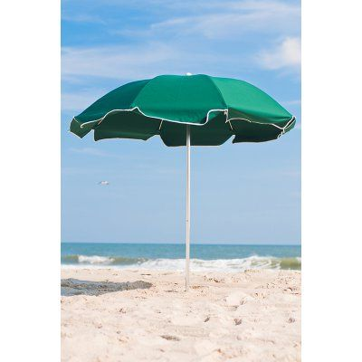 Frankford Umbrella Avalon Collection 7.5 ft. Commercial Fiberglass Beach Umbrella with Aluminum Pole Sunflower Yellow - 844FATP-YLA02