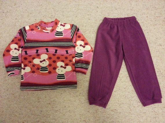Fleece Sweatshirt and Pants Size 2-9 yrs old by NoraMadeMe on Etsy