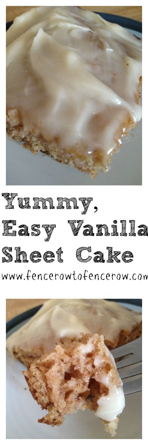 There is nothing tastier than cake. And this recipe for a Yummy, Easy Vanilla Sheet Cake literally takes the cake for an easy treat!