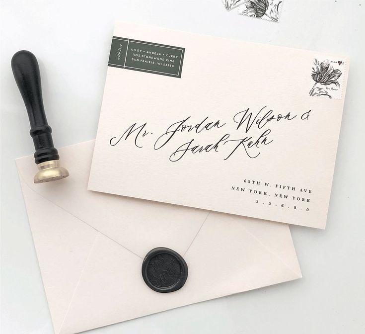 handwrite or print wedding invitation envelopes%0A Tutorial   How to print addresses on envelopes using custom fonts   Saffron  Avenue