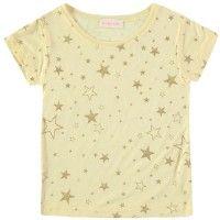 SIMPLE KIDS Koala T-Shirt in Ciel. Fine linen t-shirt with metallic glitter star print from LITTLECIRCLE Spring Summer 2016 Girls Collection. Shop now: littlecircle.co.uk