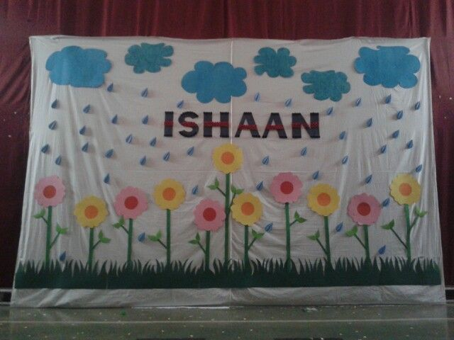 11 best images about for ishu on pinterest jungle for Baby name ceremony decoration
