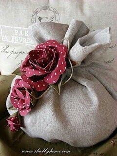 Sacchetto con rose