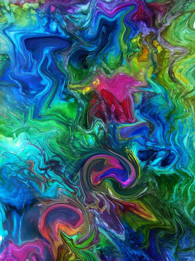 Most beautiful fine arts abstract paintings mixed media for Pretty abstract paintings