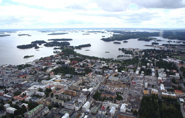 Sight over city center of Kuopio, via Flickr.