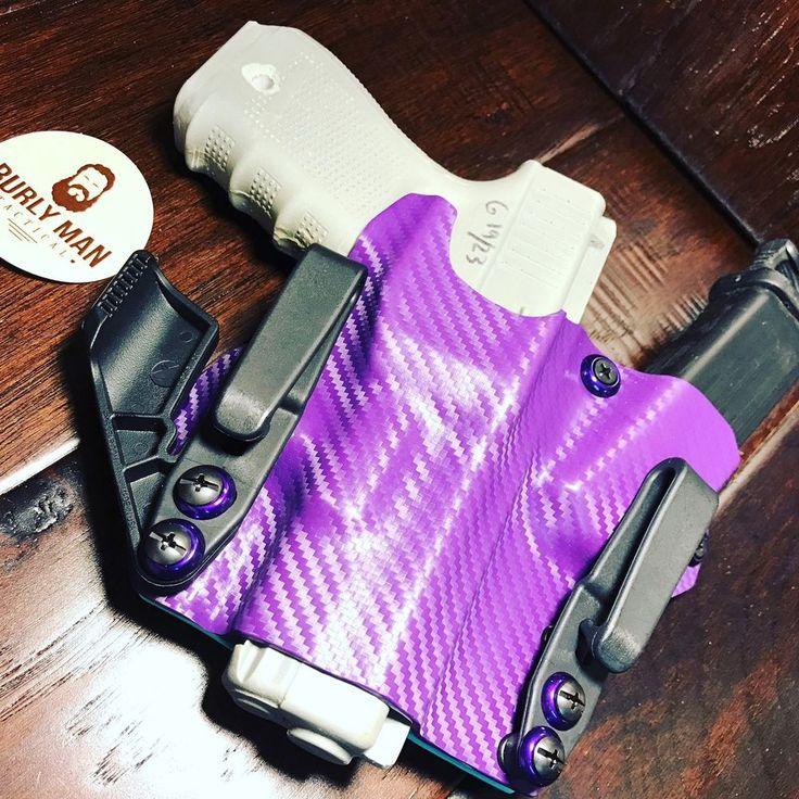 Purple Sky Blue Kydex SideCar Holster Glock G19 G17 G23 G26 G27 Appendix  | eBay
