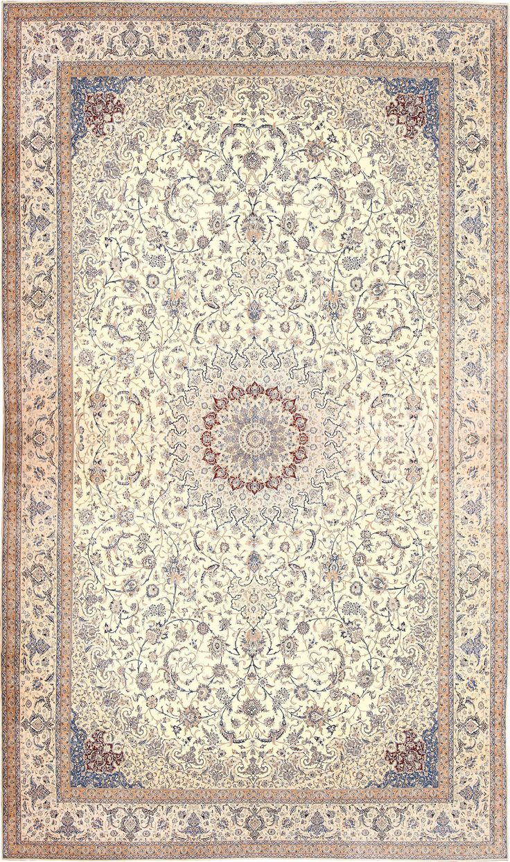 View this breathtaking massive palace size, vintage silk and wool Persian Nain carpet #50689 from the Nazmiyal Collection in New York city.