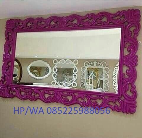 Pigura Cermin Ukir Jepara atau Cermin Ukir Terbaru 2016 dengan Bahan Kayu Mahogny Berkualitas Harga Murah Cat Duco Mirror Minimalis