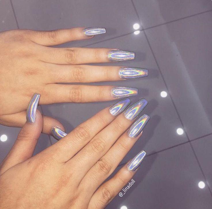 De 25+ Mest Populære Idéer Om Holographic Nails På