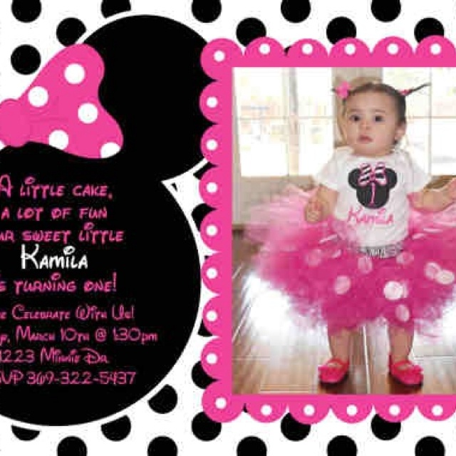 221 best minnie mouse invitation cards images on Pinterest