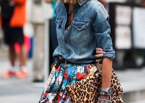 С чем носить джинсовую рубашку? С чем угодно! Предлагаем вам десятки стильных идей!