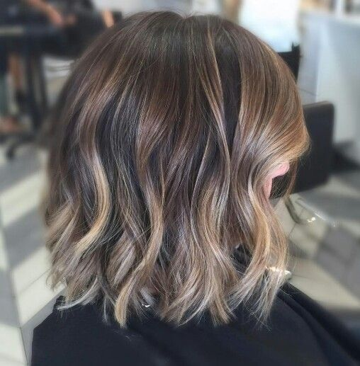 Balayage hair for brunette
