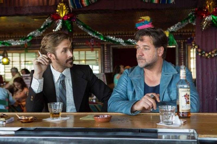 The Best Movies of 2016:     #22. The Nice Guys Smart Rating: 87.65 U.S. Box Office Gross: $36,247,200 Release Date: 5/20/16 Starring: Russell Crowe, Ryan Gosling, Angourie Rice A down‐on‐his‐luck private eye ﴾Ryan Gosling﴿ works with a hired enforcer ﴾Russell Crowe﴿ to investigate the disappearance of a young woman ﴾Margaret Qualley﴿ in 1977 Los Angeles.