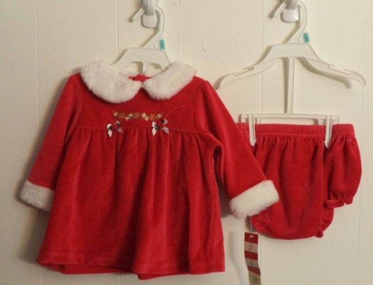 Mrs Claus Red Christmas Dress Baby Girl Size 3-6 Months #LittleWonders #SkaterDress