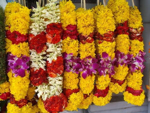 Yellow Red And Orchid Flower Garland Indian Wedding Garlands Fl Jai Mala Pinterest