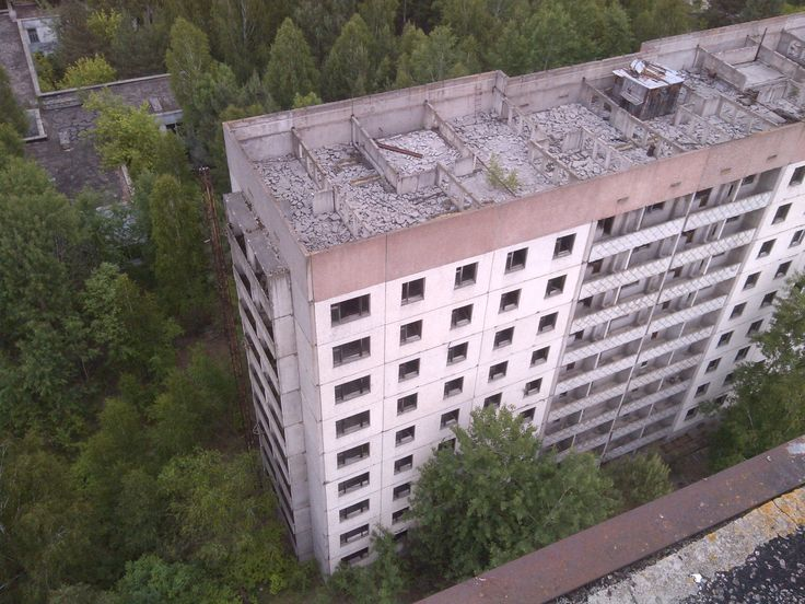 Abandoned residential highrises in Pripyat