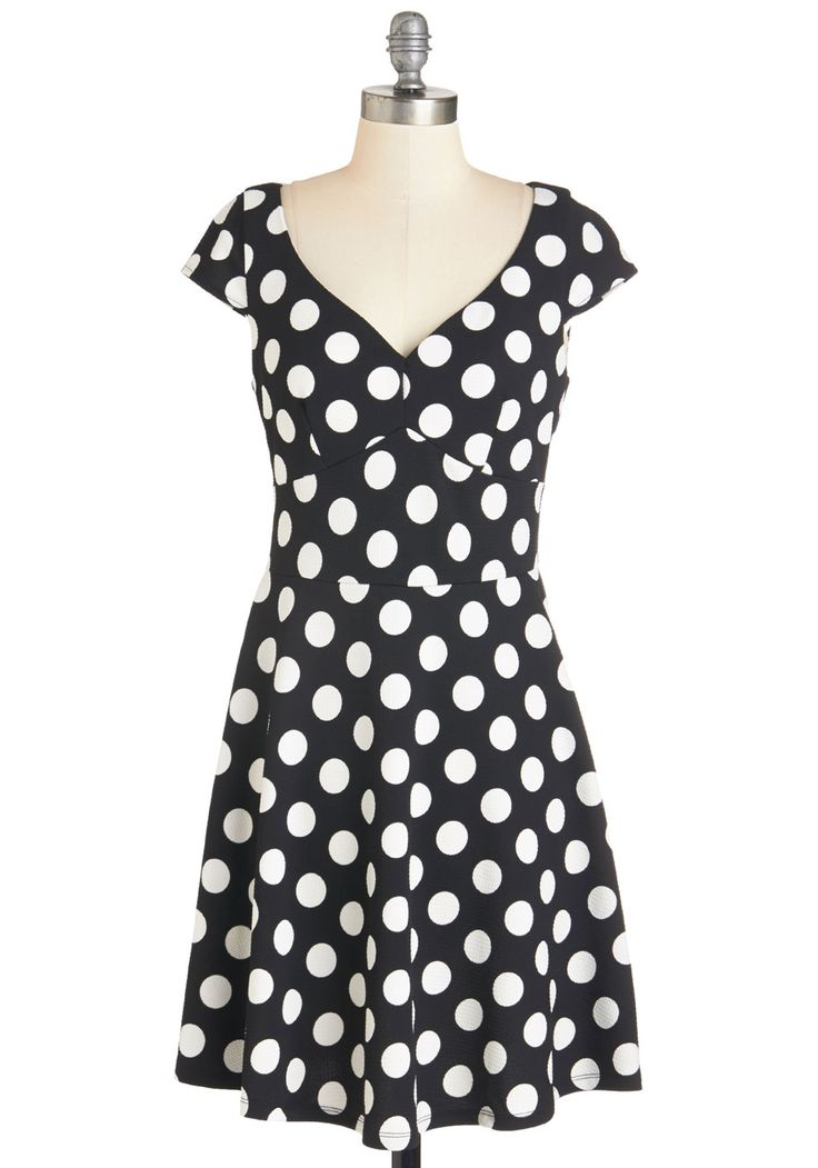 Get It, Dot It, Good! Dress | Mod Retro Vintage Dresses | ModCloth.com