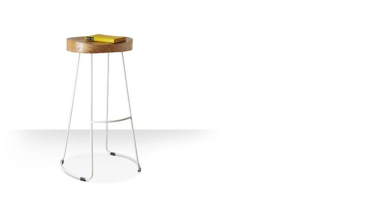 Swoon Editions Industrial style bar stool in mango wood and white – just £79