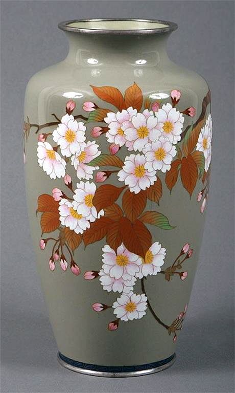 Asian Fall Blossom Color Vase.