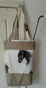 Handmade bag for horse lovers and craft lovers.  www.cronelia.nl  Worldwide shipment.