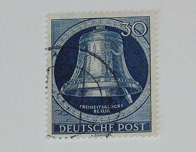 Stamp Pickers Berlin Germany 1952 Freedom Bell 30pf Scott #9N78 VFU $50