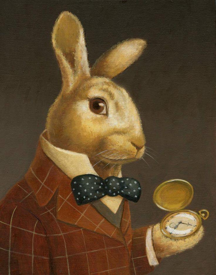 Rabbit Portrait Print Rabbit Art Animal Portrait