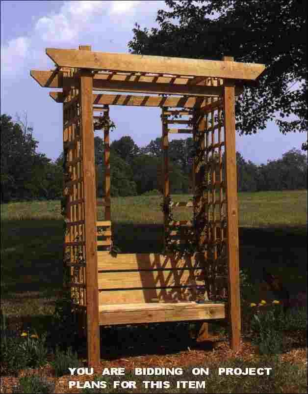 Grape Arbor Bench Plans - WoodWorking Projects & Plans