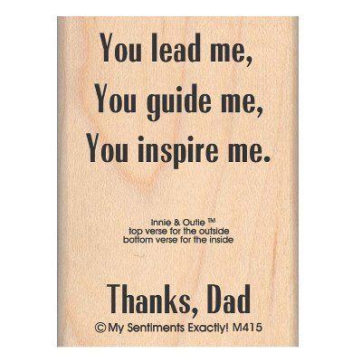 """My Sentiments Exactly Mounted Stamp 2""""X2.5""""-Thanks Dad Inne & Outie - ValuCrafts.com"""