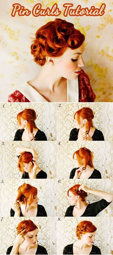 Pin Curls Tutorial. I want to do this.