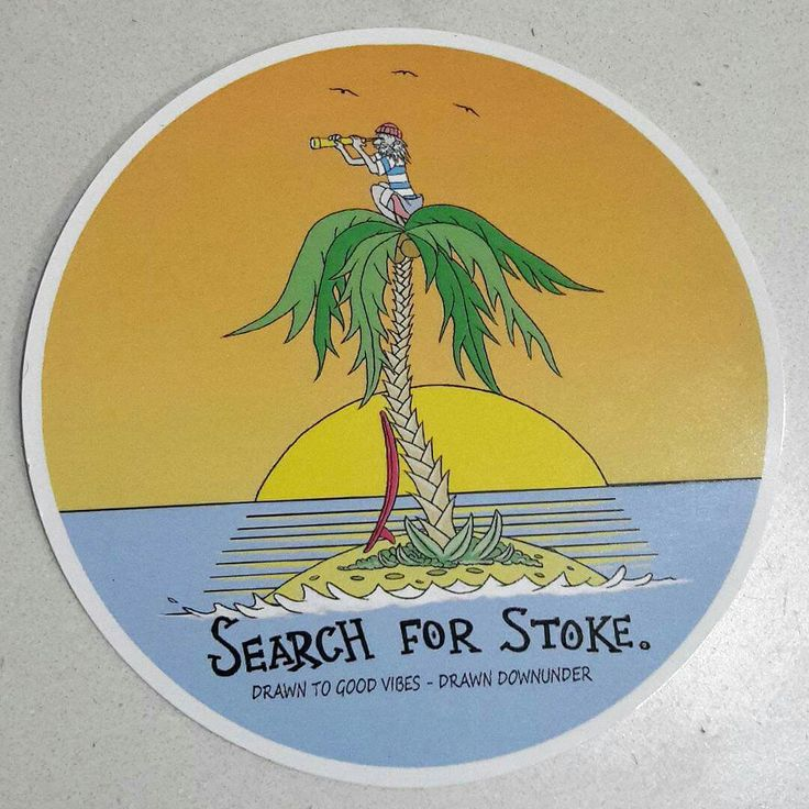 Search for stoke.🔭  Quality UV and waterproof  surf sticker. 10 cm wide. Visit www.drawndownunder.com