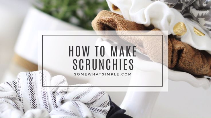 This is the EASIEST way to learn how to make a scrunchie for your hair.  This video tutorial will show you step by step how to do it so your scrunchies will look professionally made every time.  #scrunchies #howtomakeascrunchie #diyscrunchie #easyscrunchie #hairscrunchie