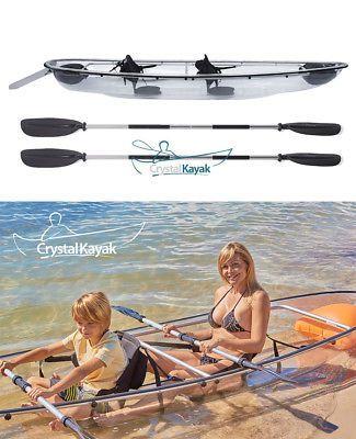 Crystal Kayak - Transparent See-Through Lexan Clear Canoe/Kayak, 1 or 2-Person