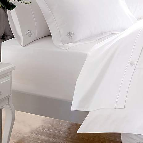 Dorma Egyptian Cotton 1000 Thread Count White 35cm Fitted Sheet   Dunelm