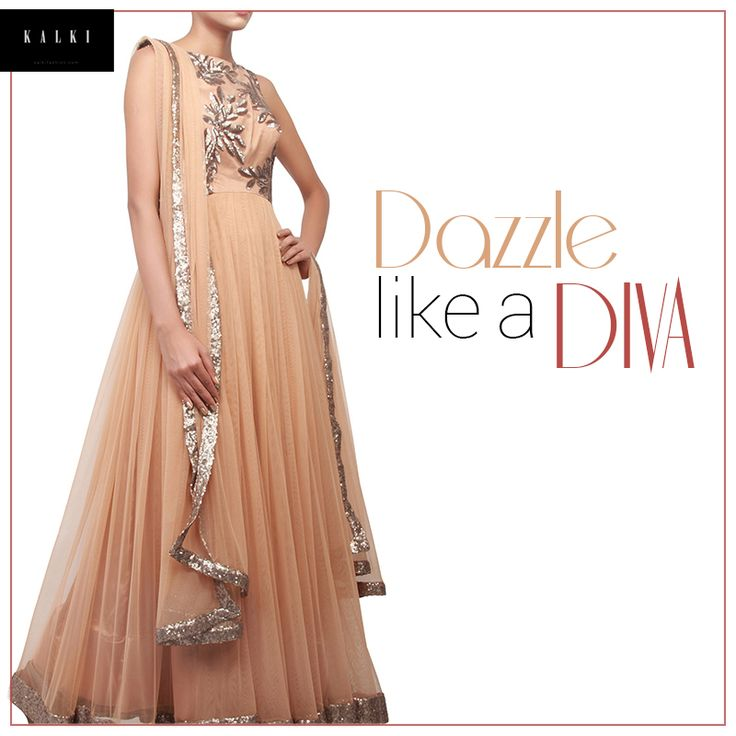 Dressing to kill takes a new meaning with this dress. Get it here: http://bit.ly/KalkiBrownAnarkali