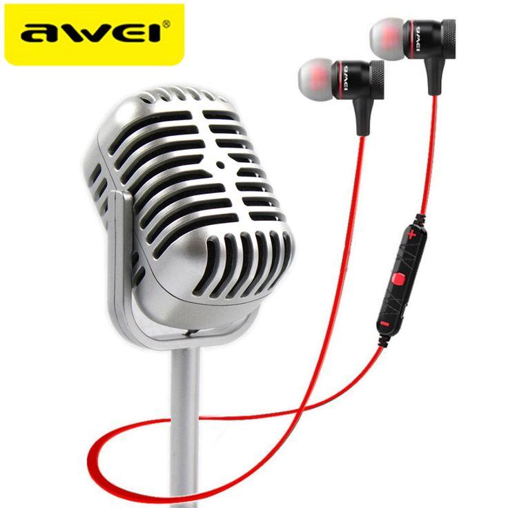 AWEI A920BL Bluetooth Headphones Wireless Earphone Magnetic Headset Ecouteur Auriculares Fone De Ouvido kulaklik Audifonos //Price: $15.99//     #electonics
