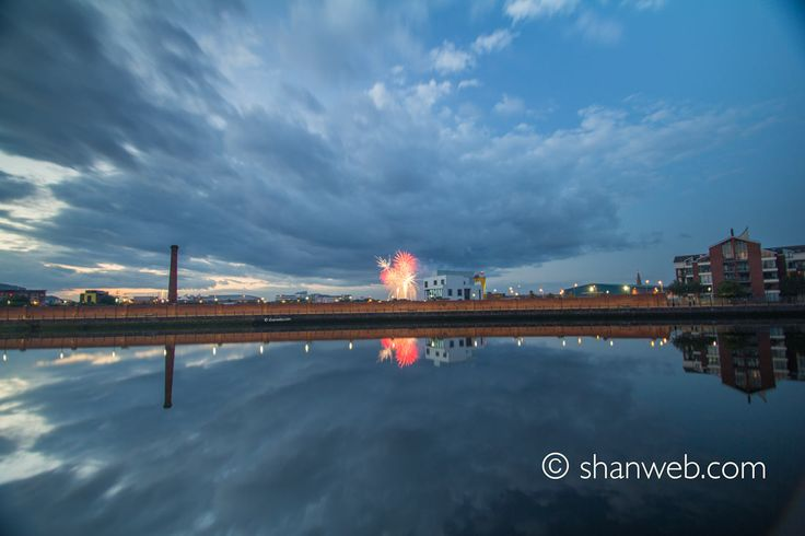 Fireworks on the Lagan, Belfast, Northern Ireland