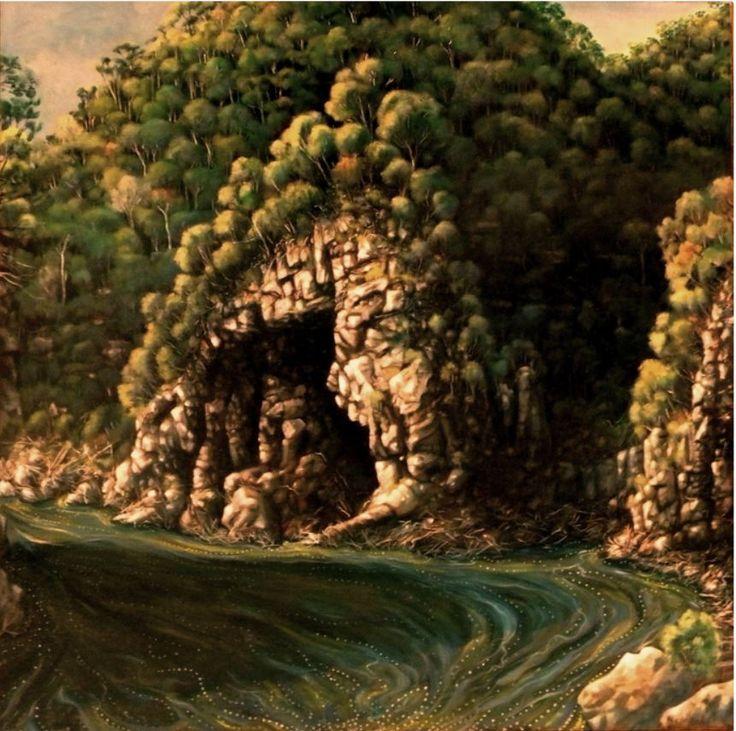 Rock Island Bend: Oil on Canvas by #artist Michael McMeekan #paintnig #fineart #ianart #art http://internationalartnetwork.com/products/RockIslandBend.html
