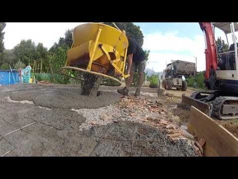 Réaliser Une Terrasse En Béton 2/2   YouTube