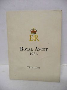 1953 ASCOT race CARD - Google Search
