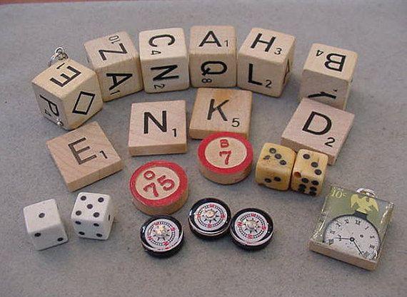 Destash Wooden Letter Dice Bingo Scrabble by Magicclosetbling