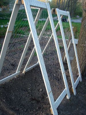 You could grow loads of peas on a simple trellis like this