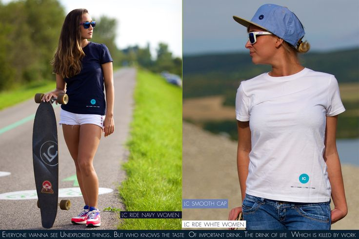 LC Ride Navy Women T-shirt and LC Smooth Cap and LC Ride White Women T-shirt  by Lodenica Corporation.  Order at http://lodenicacorporation.com/store/